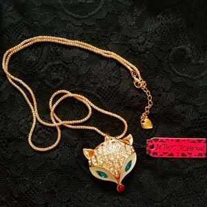 Betsey Johnson Fox Necklace
